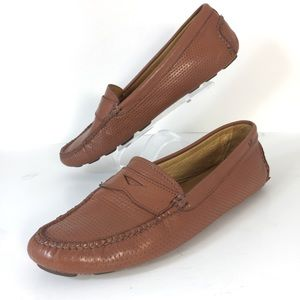 Peter Millar Woven Driving Shoes Leather Sz 7.5